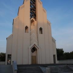 Bielice, kościół katolicki. Zbudowany przez Polonię.