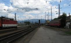 Wąski peron w Żylinie.