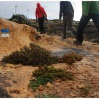 Szlaki na Gozo sprawiają wrażenie całkiem nowo oznaczonych. Powyżej Inland Sea.