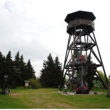 Platforma widokowa na szczycie Anenský vrch.