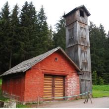 Urocza strażnica w Nowej Wsi.