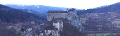 Zamek Orawski widziany z nieba